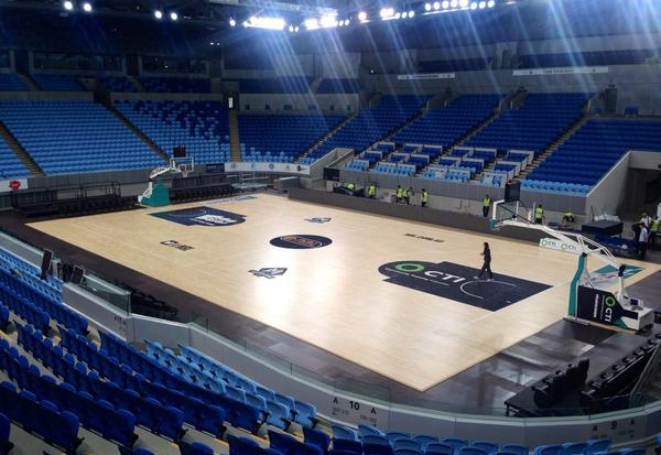 Basketball court flooring sport court all basketball for How much to build a half court basketball court