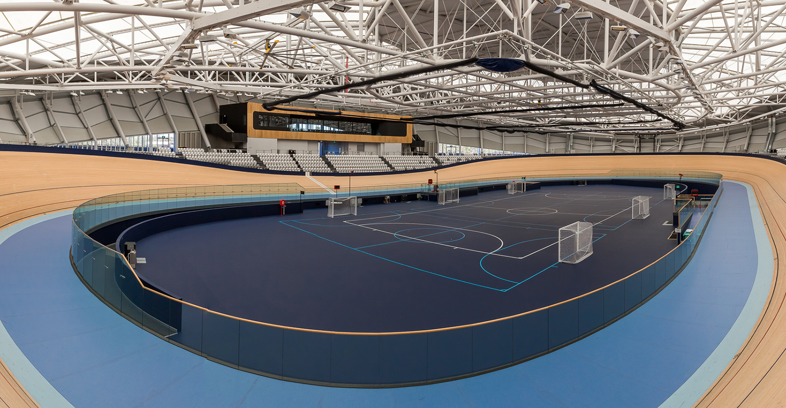 Polyurethane Sports Flooring; Anna Mears Velodrome Aura Sports Flooring Contractor