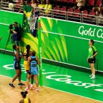 Goal Shooter at Commonwealth Games 2018 Netball Game