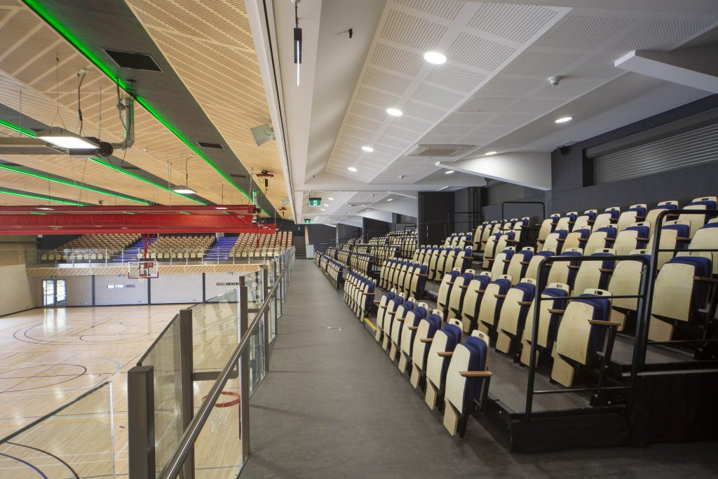 retractable venue and sports seating