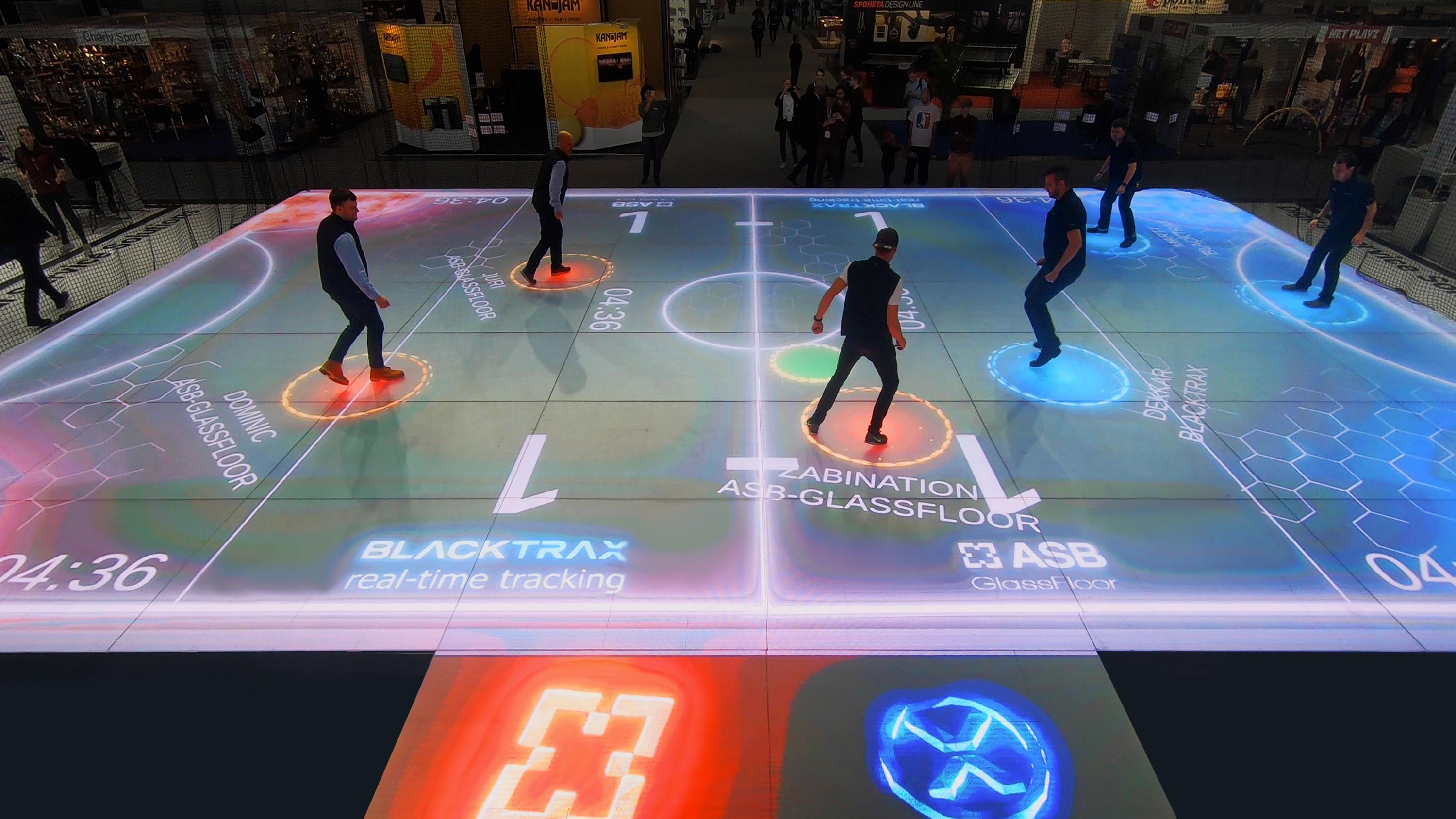 ASB glass sports floor